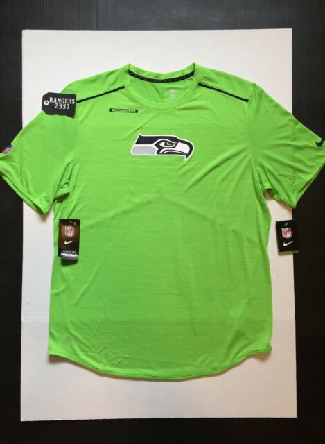 cc6740af0 Nike NFL 17 Seattle Seahawks OnField Dri-Fit Player Top T-Shirts Mens Size