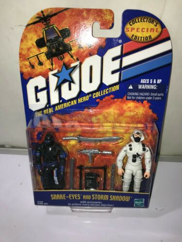 2000 GI JOE The Real American Hero Collection Snake-Eyes and Storm Shadow 2 Pack