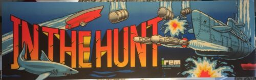 """In the Hunt Arcade Marquee 26/""""x8/"""""""