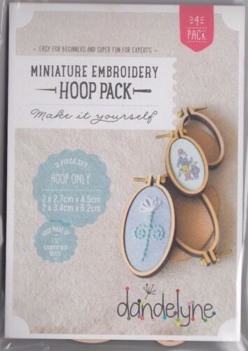 2 sizes fun Jewellery 4 Vertical Oval Hoops Miniature Embroidery Hoop Pack