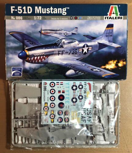 F-51D MUSTANG ITALERI 086 1//72 PLASTIC KIT NUOVO