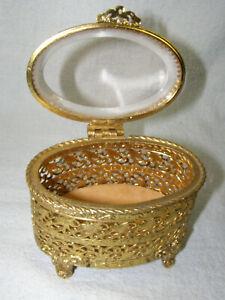 Vintage-Oval-Glass-and-Brass-Filigree-Jewelry-Casket-Box