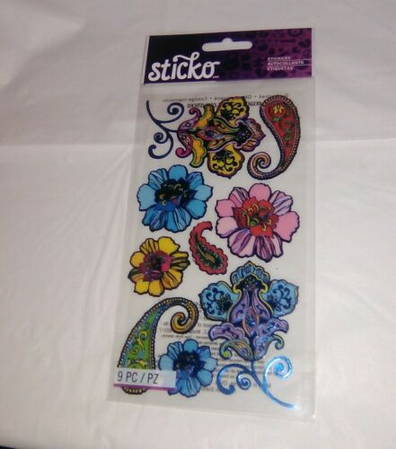 Sealed NIP EK Success Sticko Stickers Mehndi Flowers