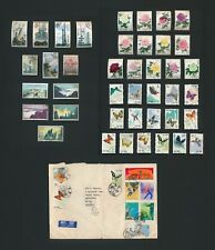 1972 CHINA PRC COVER TO ENGLAND S56 BUTTERFLIES & 1960s INC S61 PEONIES x13