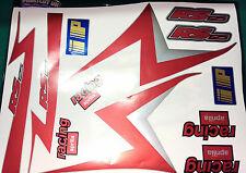 APRILIA RS125 Red, Silver, Black Decal/Sticker kit, Original Size 1999-2005 gfx