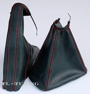 99-05 Leder Schaltsack Handbremssack ROT-SCHWARZ passend für OPEL ZAFIRA A Bj