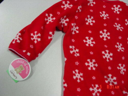 NWT Infant Girl Red Playsuit Carter/'s Child of Mine Christmas Holiday Penguin