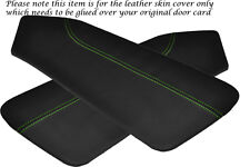 GREEN STITCH FITS  HYUNDAI COUPE 02-09 2 X DOOR CARD LEATHER PERFORATED COVERS