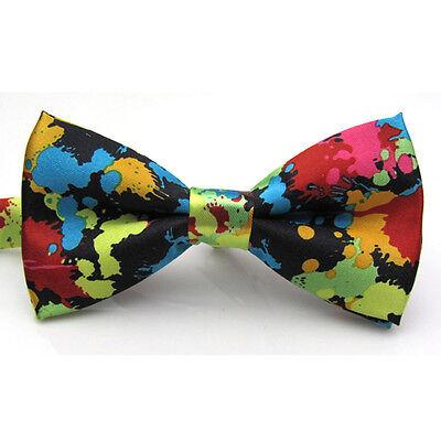 Adjustable Printed Tie Men Bowties Wedding Tie Banquet Tie Butterfly Pre-tied