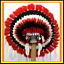 Genuine-Native-American-Navajo-Indian-headdress-36-inch-CHEROKEE-Red-Black-White