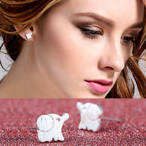 CUTE ELEPHANT 925 STERLING SILVER PLT EAR  BUTTERFLY STUD EARRINGS Cute Simple - London, United Kingdom - CUTE ELEPHANT 925 STERLING SILVER PLT EAR  BUTTERFLY STUD EARRINGS Cute Simple - London, United Kingdom