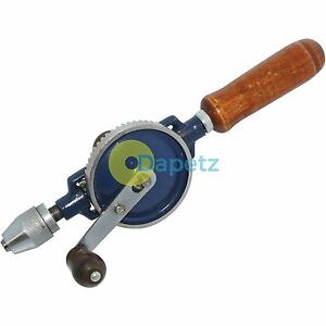 2pc-Hand-Drill-Double-Pinion-1-4-034-Chuck-Wooden-Handle-Intricate-Drilling-Crank