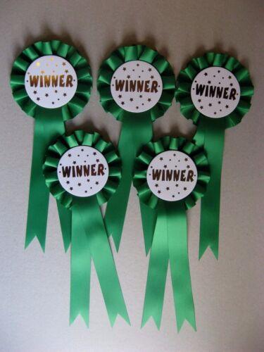 5 X 1 Tier Winner Rosettes For Awards Dog//Horses//parties