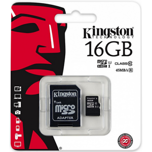 Kingston-micro-SD-SDHC-Memory-Card-16GB-Classe-10-UHS-I-Card-con-adattatore