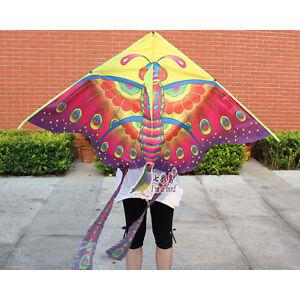 NEW-1-5m-Butterfly-animal-Kite-Outdoor-fun-sports-Children-039-s-Toy-stunt-novelty
