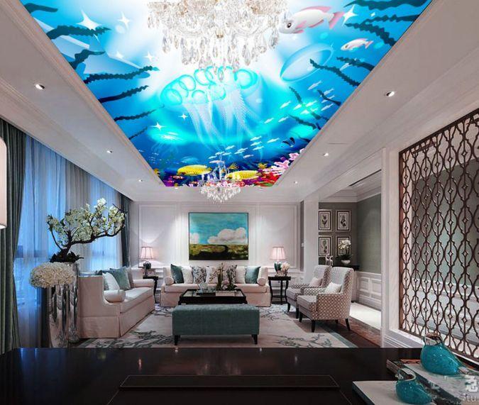 3D Farbe Seefisch 404 Fototapeten Wandbild Fototapete BildTapete Familie DE