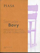 PIASA SERRURIER BOVY Design Masterworks Collection Auction Catalog 2015