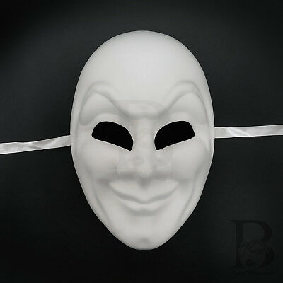 Venetian Cosplay Costume Party DIY Mask Blank White Masquerade Mask