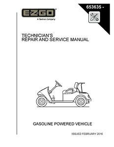 2010 - 2016 E-Z-GO Gas Golf Cart TXT VALOR Service Repair ...
