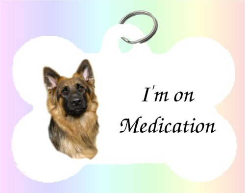 German Shepherd Dog Puppy Dble Sided Personalised Pet ID Tag M by paws2print
