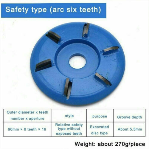 Wood Carving Disc Turbo Plane 3//4//5//6 Tooth Angle Blade Grinder Milling Cutter