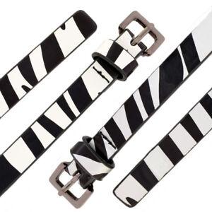 Hell Damen Gürtel Frauen Mode Zebra Druck-dünner Bügel Taillen Tierpmuster Übergröße