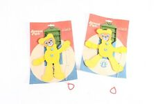 Hampelmann Bär Hampel Figur gelb Plaho DDR Spielzeug Kinder Kinderspielzeug