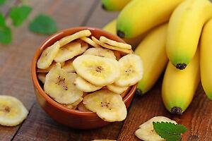 1 kg Bananenchips - gesüßt getrocknet Trockenfrucht Banane Bananenscheiben