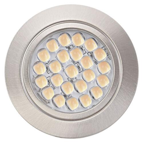 Warmweiss 12V 2,4W Spiegelschrank Flache LED Möbel Einbaustrahler Küche