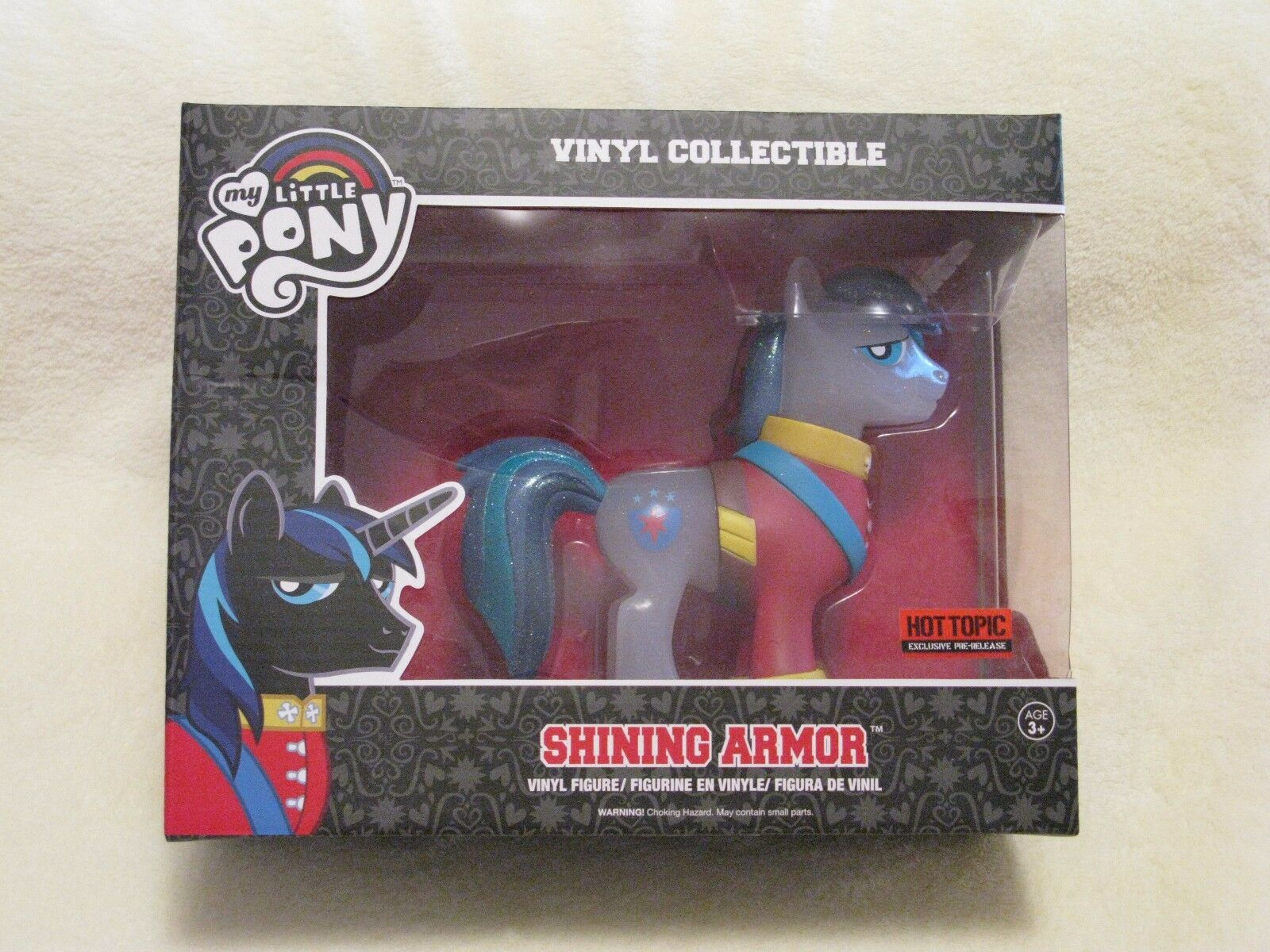 FUNKO My Little Pony FiM 'Shining Armor' Clear Glitter Variant - Rare & Perfect