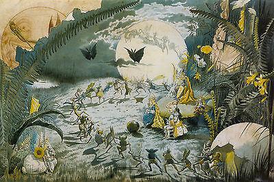 A FAIRY DANCE... Pixie/Fairy Mythology Vintage Decorative Poster A1A2A3A4Sizes