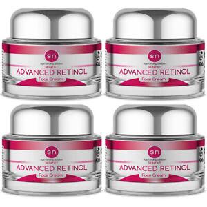 Anti-Aging-PURE-Advanced-RETINOL-WRINKLE-CREAM-Age-Defying-Face-Cream-4PK