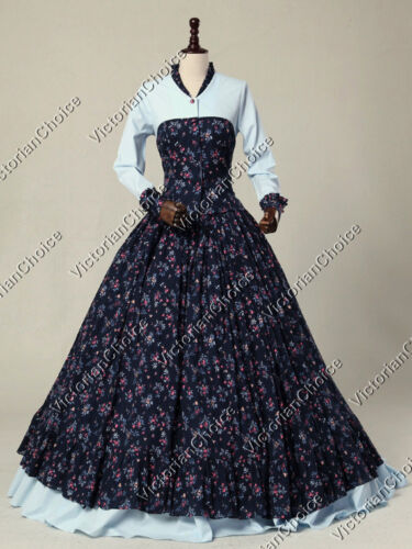 Victorian Costumes: Dresses, Saloon Girls, Southern Belle, Witch    Victorian Civil War Princess Prairie Maid Dress Theater Reenactment Clothing 128 $155.00 AT vintagedancer.com