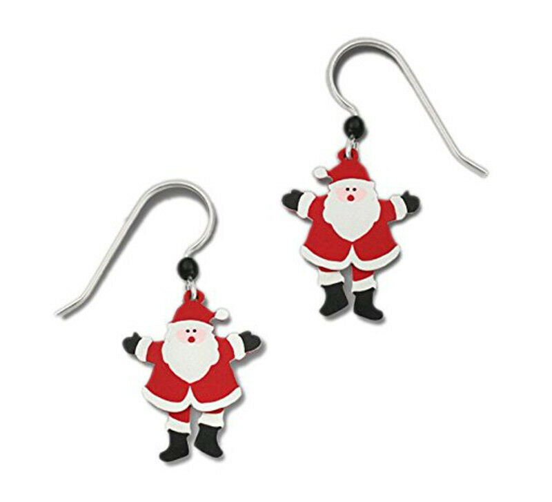 Image 11 - Sienna-Sky-Two-Part-SANTA-CLAUS-Earrings-Hand-painted-Christmas-Dangle-Box