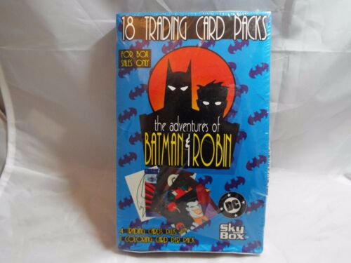 ADVENTURES OF BATMAN AND ROBIN TRADING CARDS SEALED BOX OF 18 PACKS BY SKYBOX