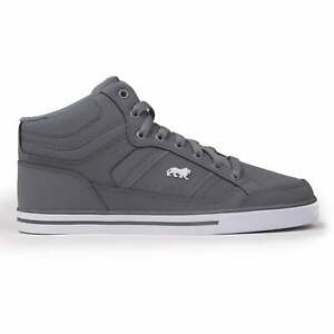 Lonsdale Kids Canon Trainers Sports Shoes High Top Lace Up Close Fit Pattern