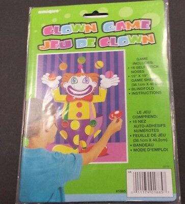 Stick the Nose on the Clown Party Game for 16 Players Classic Childrens Game
