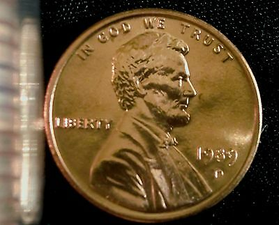 1989-D RED Lincoln Cent BU In MINT CELLO FREE SHIPPING ON ADDITIONAL COINS