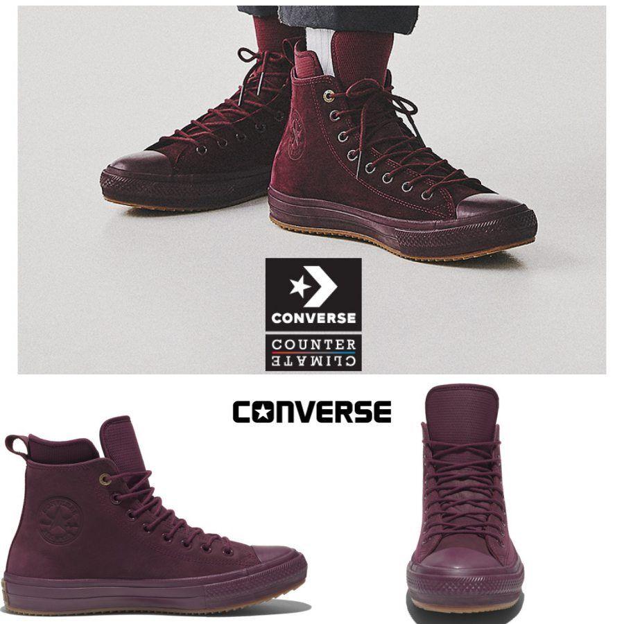 Converse Chuck Taylor All Star bottes Nubuck Dark Sangria 157458C