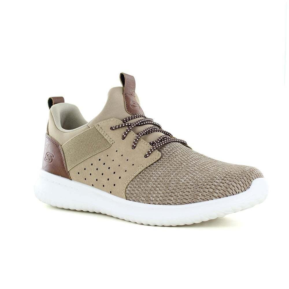 Skechers Delson camben Zapatillas Para Hombre Sin Cordones-Marrón claro