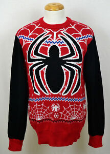 Superhero Ugly Christmas Sweaters.Details About Spider Man Ugly Xmas Sweater Marvel Comics Superhero Holiday Christmas Red