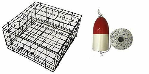 KUFA Vinyl(S60+FWM103) Coated  Crab Trap with Float and Rope Combo  up to 65% off
