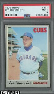 1970-Topps-291-Leo-Durocher-Chicago-Cubs-PSA-9-MINT
