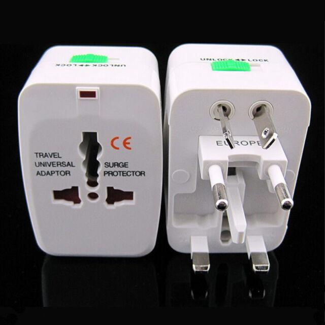US to EU Europe and Universal AC Power Plug World Travel Adapter Converter KY