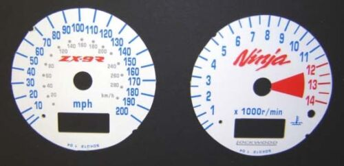 Dial Kit SDK012 Lockwood Kawasaki ZX9R /'E/' /& /'F/' 2000-2003 WHITE ST