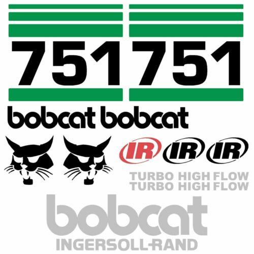 ANY MODEL Bobcat 751 DECALS Stickers Skid Steer loader New Repro decal Kit