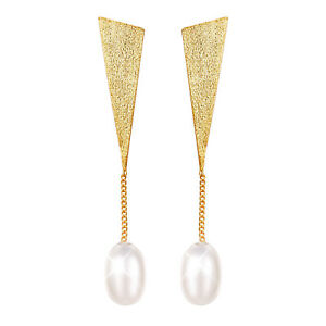 Handmade-Triangle-Pearl-Real-925-Sterling-Silver-Long-Drop-Earring-for-Girl-Gift