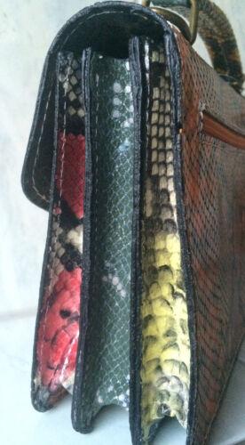 La Motif Véritable Fait Serpent Main Multicolore Cuir Croco Sac À Ebarrito T1qYRUc