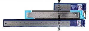 Metal-Ruler-SCHOOL-SUPPLIES-Cork-Back-Flexible-24-034-18-034-15-034-12-034-Rulers