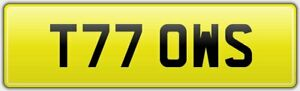 TOW-RECOVERY-TRUCK-NUMBER-PLATE-T77-OWS-TOWING-RESCUE-EMERGENCY-BREAKDOWN-LORRY